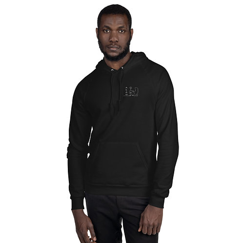 ABSTRACT ASAD MEN'S PULLOVER FLEECE HOODIE