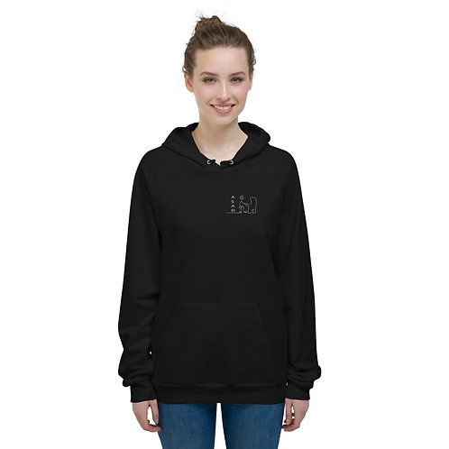 ABSTRACT ASAD WOMAN'S PULLOVER  FLEECE HOODIE