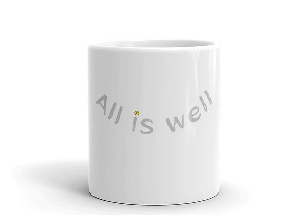 ALL IS WELL SMILEY MUG