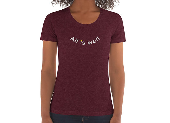 ALL IS WELL SMILEY WOMAN'S TEE