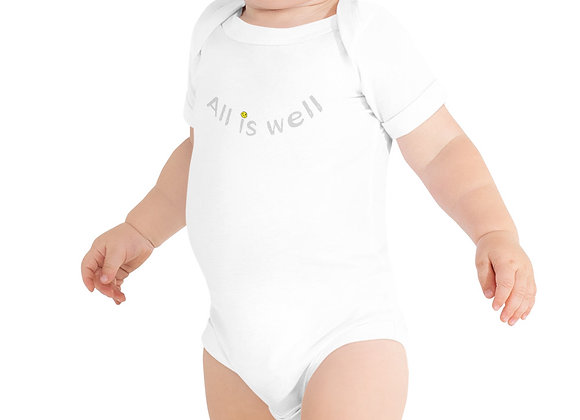 ALL IS WELL SMILEY BABY ONE-PIECE