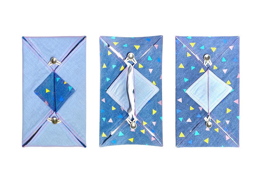 家庭裝布紙巾 — 印花牛仔布