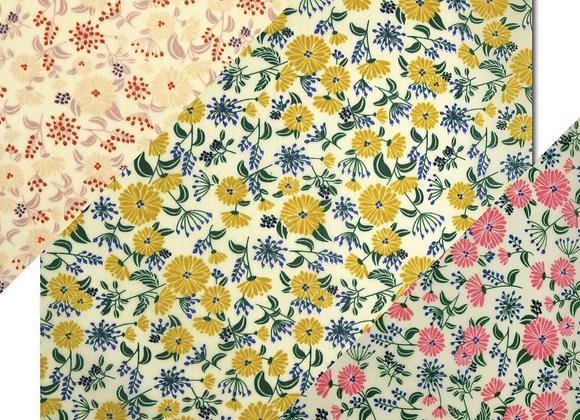蜜蠟布 - 花花