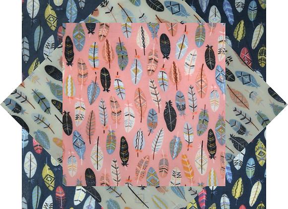 蜜蠟布家庭裝 - 羽毛