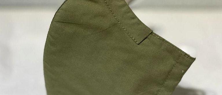 全棉口罩- 軍綠色