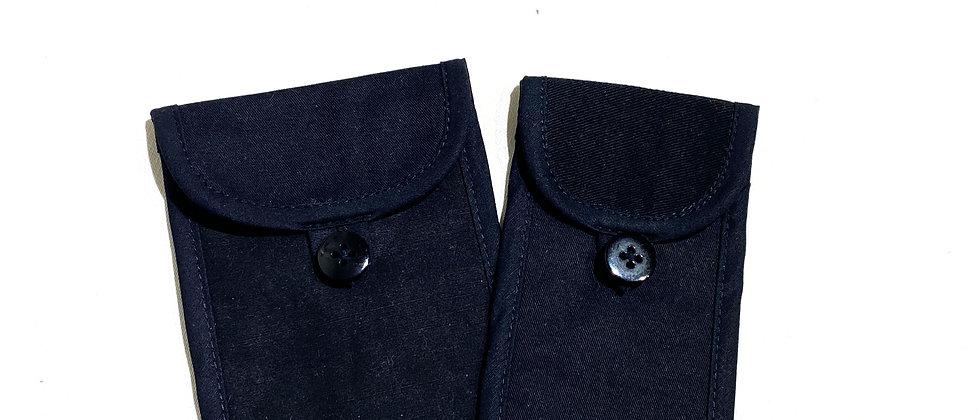 全棉餐具袋 — 純黑