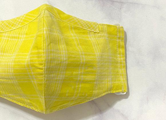 Cotton Mask - Lemon Checkered