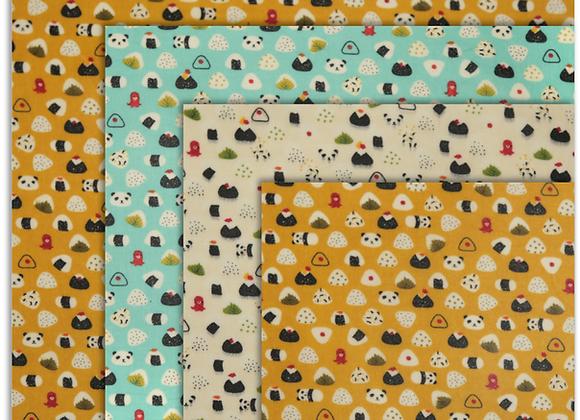 Beeswax Cloth – Rice Ball Family