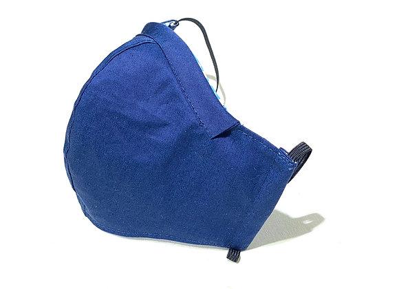 全棉口罩- 藍色