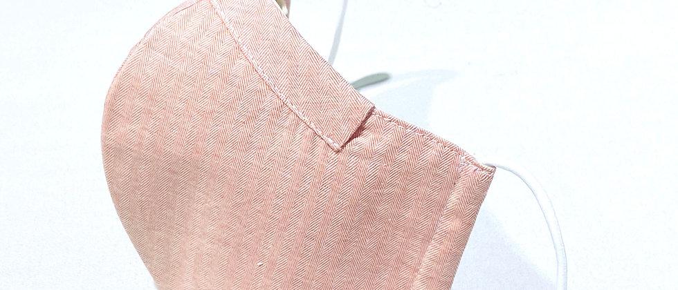 全棉口罩- 粉橙色