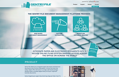 SentryFile website development.png