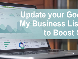 Update your Google My Business Listing to Boost SEO