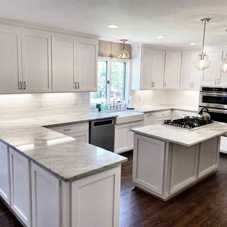 White and Taupe Kitchen