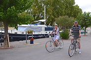 Cycling by the Canal du Midi