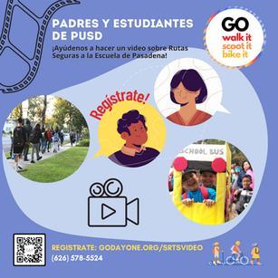 """Rutas Seguras a La Escuela- Campana de Video """"GO"""""""