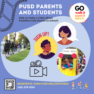 """Safe Routes to School """"GO"""" Video Campaign!"""