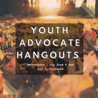 Youth Advocate Meeting Wednesdays