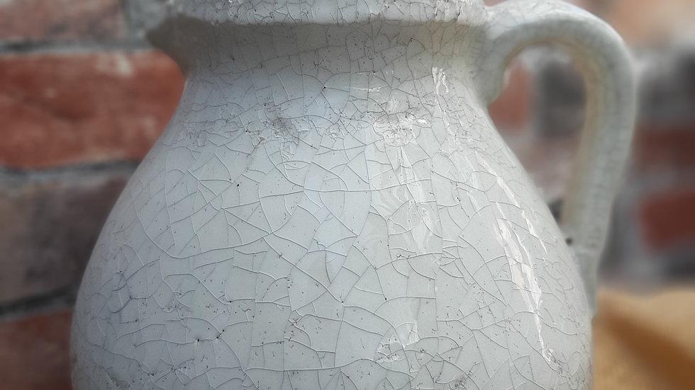 Ceramic crackle glaze jug