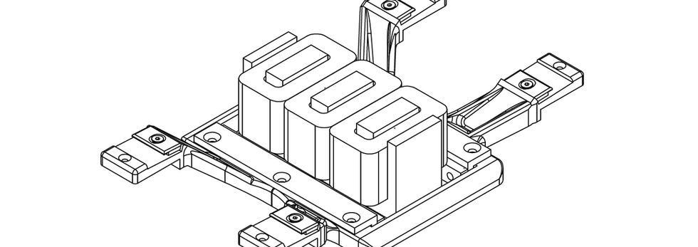 Primary winding with integrated rail support