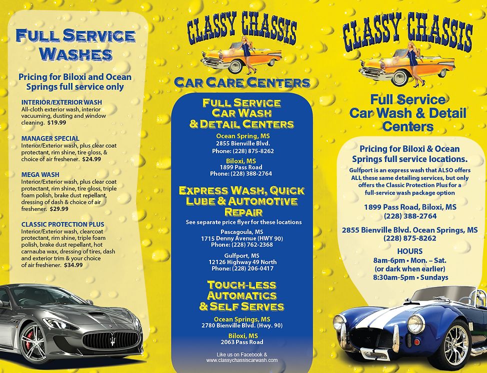 94975 Classy Chassis Car Wash_Brochure O