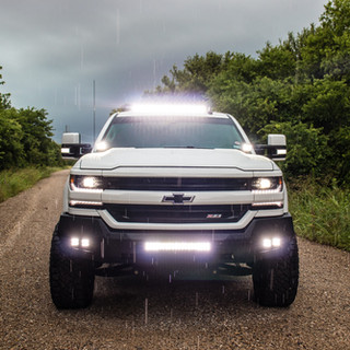 Lifted Chevy Silverado - Lights