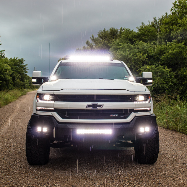 Lifted Chevy Silverado - Lights