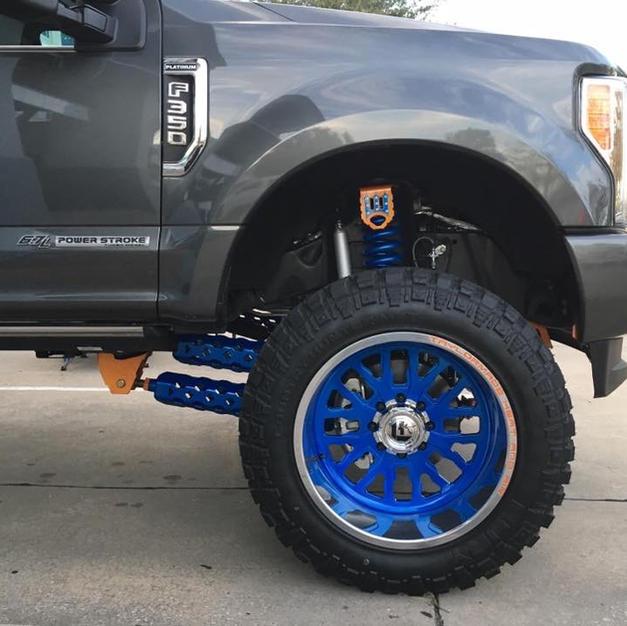 Custom Powder Coated Fuel Forged Wheels