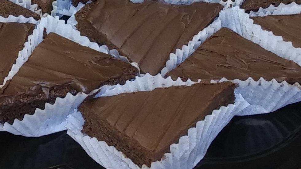 "Chocolate Gaunache Brownies 8"" Tin"