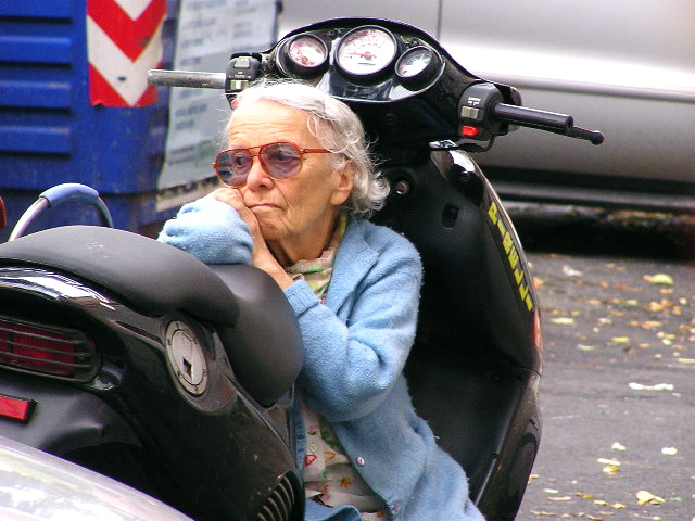 Lady on Vespa, Italy