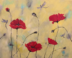 Poppies and Dragonflies