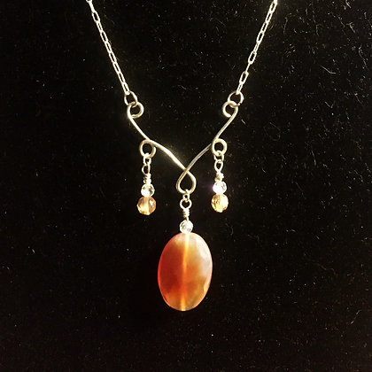 Creative! Silver and Carnelian Necklace