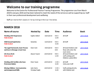 CPP announces 12 month training programme