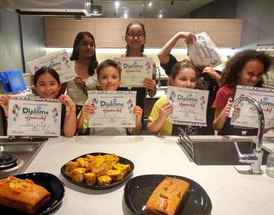 APICS kids cooking camp congrats