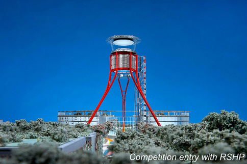 Air control tower tripod concept takes off