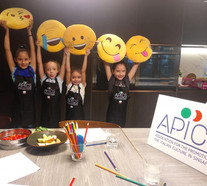 Little chefs having fun