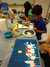 Kids learning art in Singapore