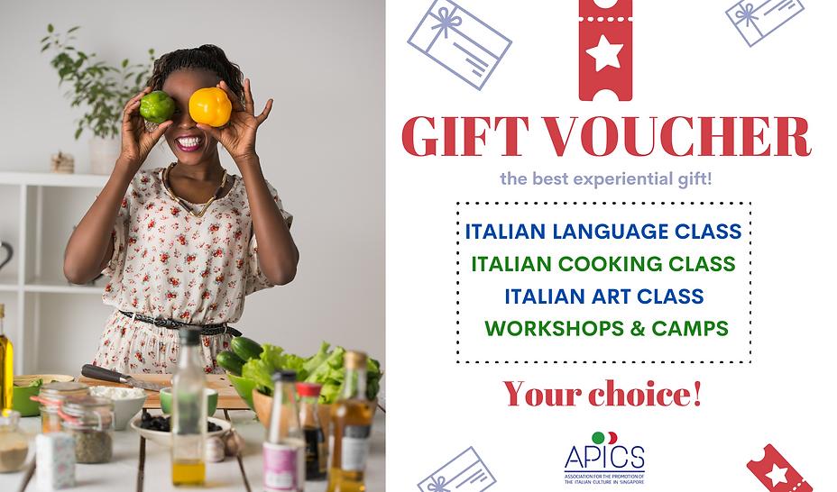 Italian gift voucher in Singapore