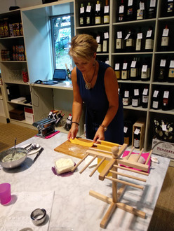 Rolling fresh pasta workshop