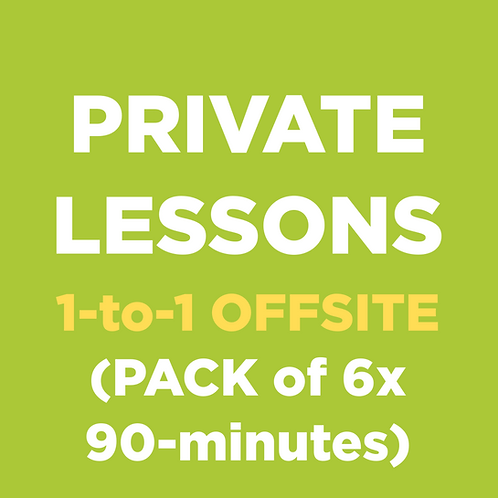 Private Lessons (1-to-1 OFFSITE)