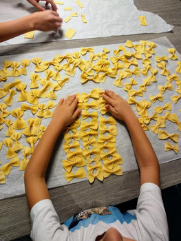 Beautiful pasta made by the kids