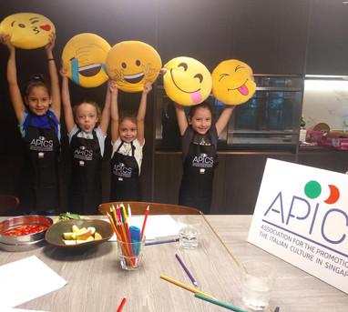 Little chefs having fun