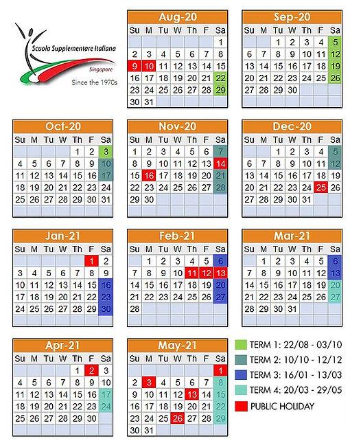 Scuola Italiana Singapore Calendario