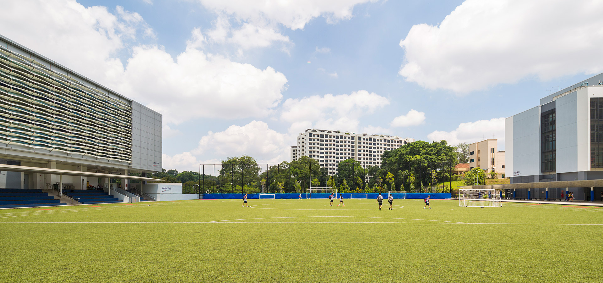 Big sports field. Photo: SAIS