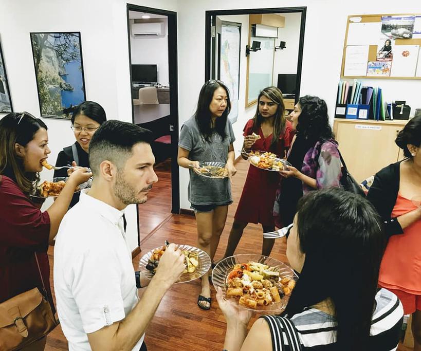 Italian group social activity Singapore.