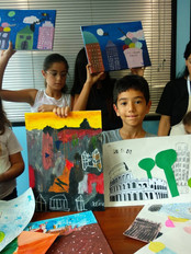 Kids learn art in Singapore