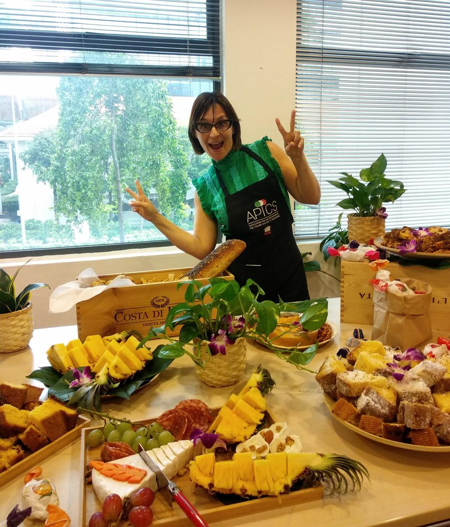 Happy teacher chef