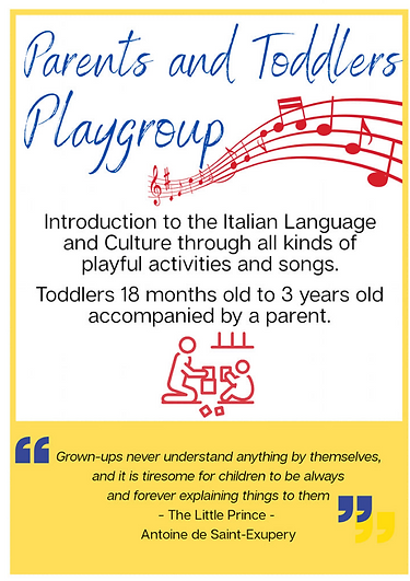 Italian toddlers playgroup in Singapore