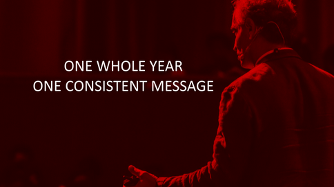 One Whole Year, One Consistent Message