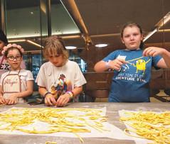 Kids fun with pasta