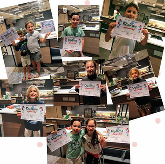 Happy kids cooking camp